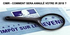 CIMR - Crédit impôt Modernisation du Recouvrement : comment sera annulé mon impôt 2018 ?