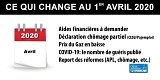 Ce qui change au 1er avril 2020 : aides financières COVID-19 à demander, chômage partiel, baisse du prix du gaz