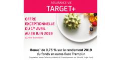 Assurance-Vie : offre Primonial, Target+, bonus de rendement sur le fonds euros de 0.75% en 2019
