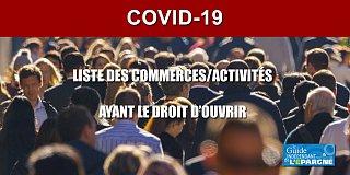 Coronavirus : liste des commerces ayant officiellement le droit d'ouvrir à partir de ce lundi 16 mars 2020