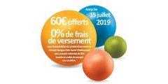 Assurance-Vie MIF : 60€ offerts et des frais sur versements à 0% jusqu'au 15 juillet 2019