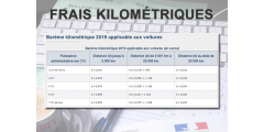 Barème 2019 des frais kilométriques