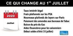 1er juillet 2020 : ce qui change pour votre argent
