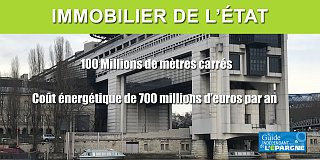 Immobilier de l'État : 100 millions de m2, 700 millions d'euros de coût en énergie chaque année