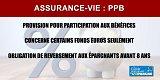 Assurance-vie : les provisions pour participation aux bénéfices (PPB) pourront être reprises par les assureurs