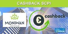SCPI : nouvelle offre de cashback de 2.75% chez MoniWan jusqu'au 31 juillet 2020