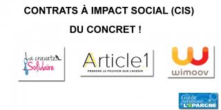 Contrat à Impact Social (CIS) : du concret, avec la signature de 3 nouveaux contrats : Wimoov, La Cravate Solidaire et Article 1