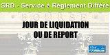Calendrier boursier SRD 2020 (Service à Règlement Différé)