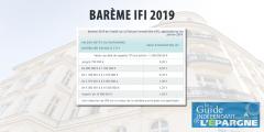 IFI 2019 - Barème 2019 Impôt sur la Fortune Immobilière