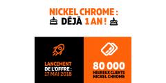 Nickel Chrome passe la barre des 80.000 clients, une année après son lancement
