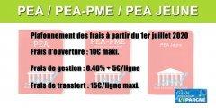 L'attractivité des PEA et PEA-PME est de nouveau renforcée avec le plafonnement des frais
