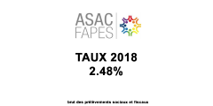 Assurance-Vie, taux du fonds euros ASAC-FAPES 2018 / ALLIANZ : 2.48%