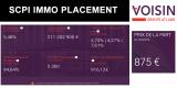 SCPI IMMO PLACEMENT (Voisin) : augmentation de capital de 15 millions d'euros pour une des meilleures SCPI du marché