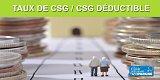 Taux de CSG / CSG déductible