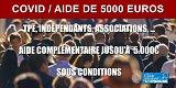 Le second volet d'aide, jusqu'à 5000 euros, désormais ouvert aux indépendants et entreprises, même sans salarié !