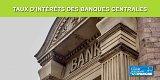 Taux d'intérêts des principales Banques Centrales