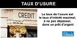 Taux d'usure à compter du 1er janvier 2020 : les seuils maximum pour vos taux de crédit