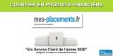 Courtier en produits financiers/Qualité du service client : Mes-Placements.fr récompensé pour la 4e année consécutive