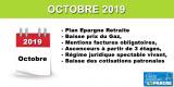 Nouveaux Plans Épargne retraite (PER), baisses du prix du gaz, allègements cotisations patronales... De bonnes nouvelles pour ce 1er octobre 2019 !
