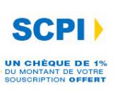 SCPI : 1% de votre souscription remboursée par chèque!