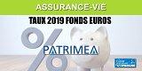 Assurance-Vie, taux 2019 des fonds euros des contrats commercialisés par Patrimea