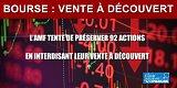 Bourse/Coronavirus : l'AMF interdit toutes les ventes à découvert jusqu'au 16 avril 2020