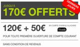 A partir du 20 novembre et pendant 9 jours chez Monabanq, 50€ offerts en bons cadeaux + 10€ / mois pendant 12 mois