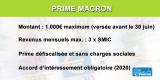 Prime exceptionnelle de pouvoir d'achat reconduite en 2020 (Prime Macron)