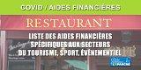 Récession COVID : Hôtellerie, restauration, cafés, tourisme,... Détails du renforcement des aides financières