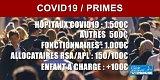 COVID19 : Primes pour le personnel des hôpitaux (1500€), Ephad, fonctionnaires (1000€), Français les plus modestes
