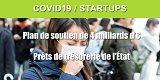 COVID-19 / Les startups bénéficient également d'un plan de soutien financier sans précédent