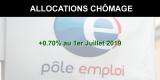 Allocations chômage : légère hausse de +0.70% au 1er juillet 2019