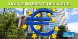 Taux directeurs de la BCE (Banque Centrale Européenne)