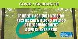 COVID / Crédit Agricole Assurances : 200 millions de dédommagements versés aux clients Professionnels