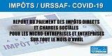 COVID-19, Auto-entrepreneur/Entreprises : extension du report du paiement de vos impôts directs et cotisations sociales sur avril