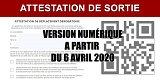 Attestation de sortie : une version disponible sur mobile (QR Code) à compter du 6 avril 2020
