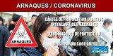 Coronavirus/Arnaques : faux sites de ventes de protections et sites piégés de suivi de la pandémie se multiplient