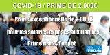 COVID-19 : la prime exceptionnelle de 1000 euros passe à 2000 euros, sous conditions