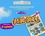 Loto du Patrimoine, Mission Patrimoine : 15€ de mise et seulement 1 chance sur 2 millions d'empocher 1,5 million d'euros