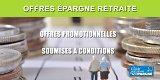 Epargne retraite : offres promos proposées sur Mars 2020