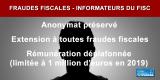 Informateurs du fisc : préservation de leur anonymat et déplafonnement de leur rémunération