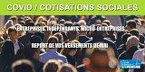 Indépendants, entreprises : report des cotisations et contributions sociales du mois de mai