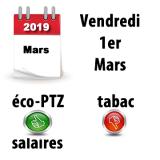 1er mars 2019 : ce qui change pour votre argent ce vendredi