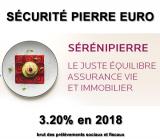 Fonds euros Sécurité Pierre Euro (@Primonial Sérénipierre/@Suravenir) : 3.20% de rendement en 2018, encore une belle performance !