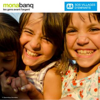 Monabanq, les gens avant l'argent, nouvelle preuve : jusqu'à 120€ offerts à SOS Villages d'Enfants