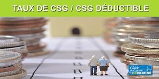 Taux de CSG 2020 applicables aux pensions de retraite