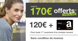 Jusqu'à 170€ offerts chez Monabanq aux nouveaux clients, pendant 5 jours seulement !