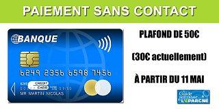 Banques Populaires et les Caisses d'Epargne : le paiement sans contact jusqu'à 50€ disponible le 11 mai