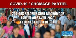 COVID-19 : 4 millions de Français au chômage partiel ce jour, soit 20% des salariés du privé