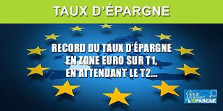 Taux d'épargne record en Europe à 16.90% au 1er trimestre 2020